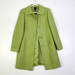 INC International Concepts Button Wool Trench Coat